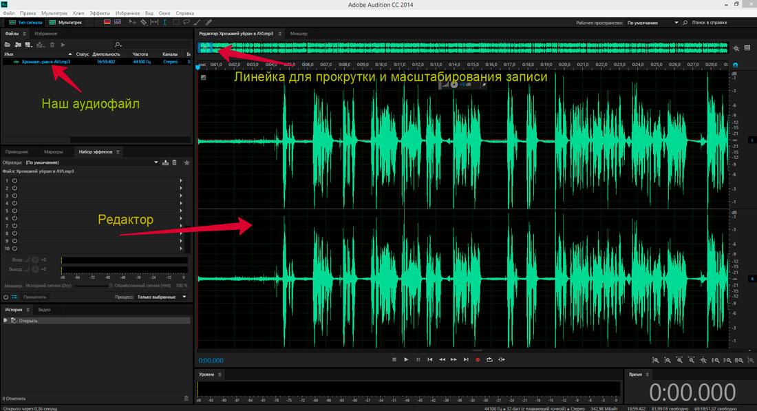 Аудиоредактор Adobe Audition