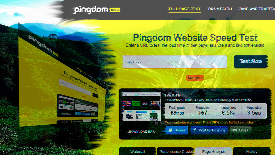 Pingdom Tools. Сервис замера скорости загрузки сайта