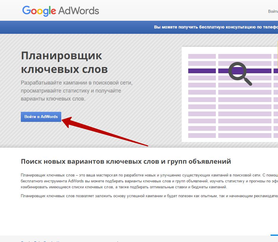 Bыбор ниши для бизнеса с нуля при помощи Googl AdWords