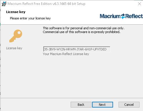Бесплатный ключ загрузки Macrium Reflect