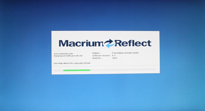 Загрузка программы MacriumReflect